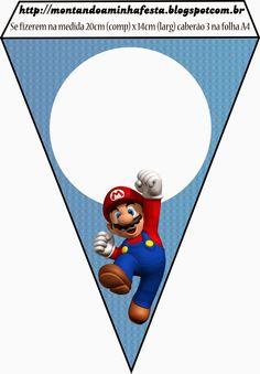 Super Mario Bros Free Party Printables and Invitations. Mario Birthday Banner, Super Mario Birthday, Super Mario Party, Bolo Do Mario, Bolo Super Mario, Super Mario Bros, Super Mario Brothers, Mario Y Luigi, Mario Kart