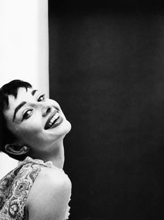 Audrey Hepburn photographed by Mark Shaw, 1954.