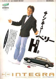 Foreign stars in Japanese retro AD, Michael J. Fox on Honda Integra - 1989