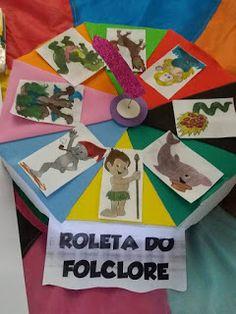 Ensinando com Carinho: Roleta do folclore