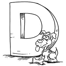 The Dog And Bone Lettering Alphabet Dog Coloring Page Coloring Pages