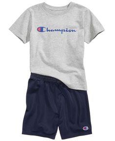 8cf9daa614f Champion Heritage 2-Pc. Logo-Print T-Shirt   Shorts Set
