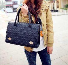 Barato Bolsa maleta bolsa de moda feminina bolsas trevo de quatro folhas tecida saco de 2.013 mulheres, Compro Qualidade Bolsas Estilo Sacola diretamente de fornecedores da China: