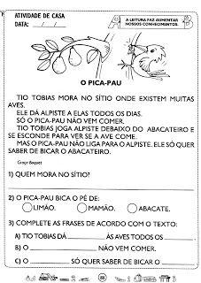 Fada Azul: Leitura e interpretação de texto para 1º e 2ºano Portuguese Lessons, Spanish Worksheets, Lany, Too Cool For School, Gabriel, Professor, Album, Education, Homeschooling