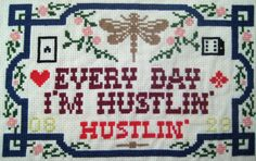 Thug life: cross stitched rap