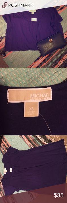 Purple Michael Kors Soft Stretch Top / Shirt All Purple Colored Soft Stretchy Michael Kors Brand Size XS , Fits XS-S. Brand New. No Damages Michael Kors Tops Blouses