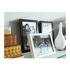 RIBBA Frame, white, Decorate with pictures you love. This frame has classic straight lines and comes in many sizes, perfect for a large picture wall.