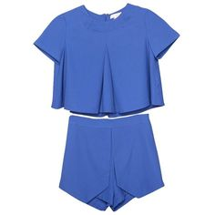 True Blue Matching Separates ($69) ❤ liked on Polyvore featuring swimwear, bikinis, dresses, tops, shorts and bottoms