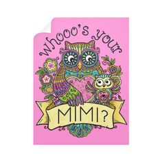"""""""Whooo's Your Mimi?"""" Wall Decals"""