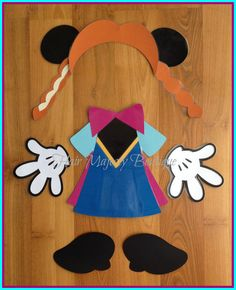 Minnie Mouse as Anna Body Part Cruise Door Magnet