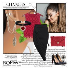 """ROMWE 5/IV"" by amina-haskic ❤ liked on Polyvore featuring Solomon Appollo and romwe"