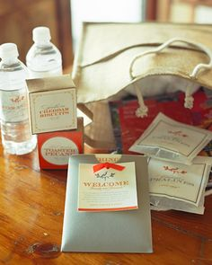welcome bags, essential for out of town guests