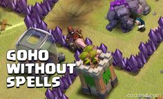 How to use GoHo Without Spells at Town Hall 8 - http://cocland.com/strategies/goho-without-spells