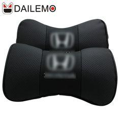 DAILEMO Lederen Auto Hoofdsteun Hoge Kwaliteit 2 Stks/Seat Hals Ondersteuning autostoel kussenhoes voor honda cr-v civic accord STAD
