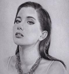 Praya Lundberg #1 Pencil drawing on paper