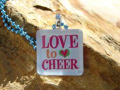 Cheerleading Pendant --- 1 Inch Square
