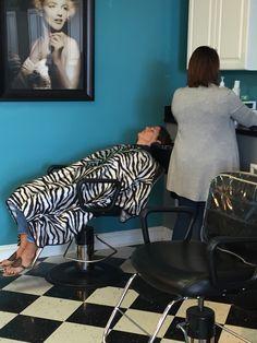 #thevogueofswansboro Swansboro, NC  Shannon Sines Shannon Hanna Sines Beauty Salons, Hair And Beauty Salon, Hairdressers, Hair Shampoo, Spa Treatments, Capes, Barber Shop, Feminism, Animal Print Rug
