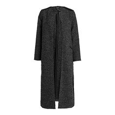 Stylový kabátek bez zapínání je vhodný zejména pro ležérní outfity. Prodloužený rovný střih a vysoké rozparky dodávají šmrnc.