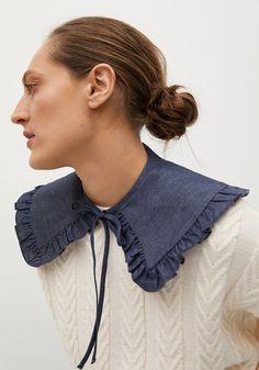 Sewing Collars, Mango France, Satin Midi Skirt, Layered Fashion, Collar Designs, Blouse And Skirt, Clothing Hacks, Fashion Advice, Clothing Patterns