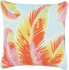 WOW. New outdoor pillows with bright tropical patterns from Surya. (ODC-56)