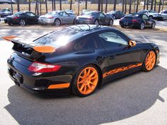 2007 Black & Orange Porsche GT3 RS « saw one of these yesterday and fell in love