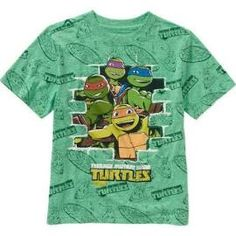 Teenage Mutant Ninja Turtles Boys A/O Green Short Sleeve Tee Size:XXL
