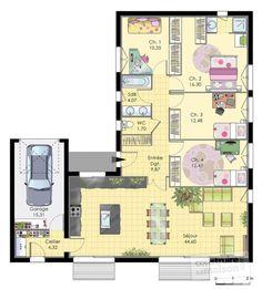 Plan habillé Rdc - maison - Maison de plainpied