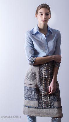 Фартук коллекции LEVADNAJA DETAILS. Идеален с платьем и светлыми джинсами.