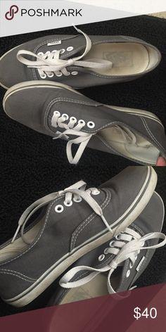 Grey Vans Word a couple of times Vans Shoes Sneakers