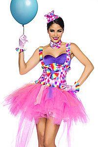 Pinker Clown Kostüm