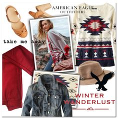 A fashion look from December 2015 featuring American Eagle Outfitters sweaters, American Eagle Outfitters jackets and Comptoir Des Cotonniers jeans. Browse and…
