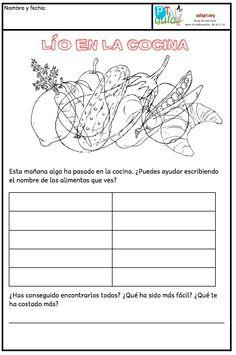 LÍO EN LA COCINA Memories, Education, Reading, School, Google, Learn Spanish, Infant Activities, Learning, Working Memory