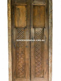 Original Antique c1840's Double Entry Hacienda Door from Mexico. $4800 + shipping (from Australia) very rare and very unique available @ mexicoconamor.com.au #antiquedoorsaustralia #entrydoor #haciendadoors #salvageddoors #frenchdoors #melbourne #sydney #australia #mexicancasa #decor #antiquedoors #architecturalantiques #brisbane #UK #spanishcolonial #interiors
