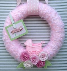 Baby Girl Wreath It's A Girl Wreath Gender by TweetTweetWreaths
