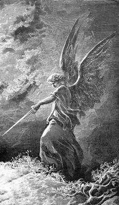 Gravure Illustration, Illustration Art, Illustrations, Engraving Illustration, Arte Obscura, Occult Art, Biblical Art, Angels And Demons, Classical Art