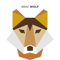 illustrations shapes animals simple animal drew geometric polygon shape abstract fox illustration inspiration thedesigninspiration flat embroidery amazing clipart wolf wolves