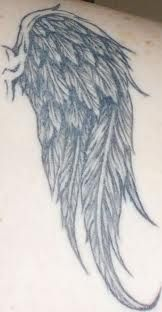 angel wing tattoos.. now that's a wing!
