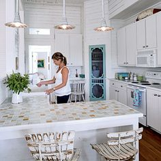 pretty kitchen {coastal living}