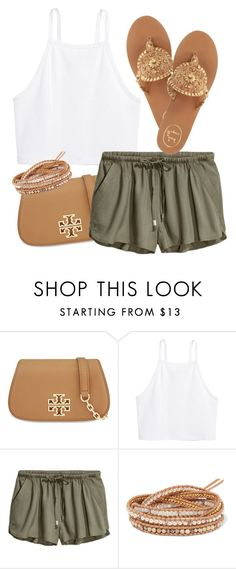 """""""#10"""" by musiclover8877 ❤ liked on Polyvore featuring Tory Burch, Chan Luu and Jack Rogers"""