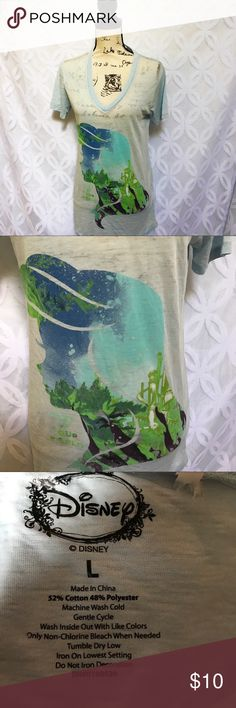 """Disney Little Mermaid Ariel Part of This World Tee Little Mermaid Ariel Part of This World Burnout Tee NWOT.           Measurements Laying Flat Size 🔹 L Armpit to Armpit 🔹21"""" Shoulder to Hem 🔹 28"""" Bundle to Save 🤓 Sorry NO outside transactions 🚫 NO trades 🚫 Reasonable Offers welcomed 👍 NO Low balling 👎 NO modeling 👎 NO Holds👎 All items from a pet 😼and Smoke Free Home  Happy Poshing 🤗 Disney Tops Tees - Short Sleeve"""