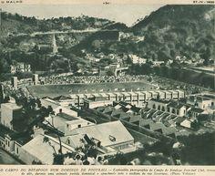 Estádios » História do Futebol Uma foto bacana do antigo Estádio de General Severiano (atual CT do Botafogo F.R.), completamente lotado, visto de cima. Fonte do O Malho, de 27 de Abril de 1939.