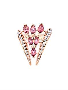 Diamond, tourmaline & rose-gold ring by Shaun Leane