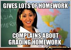 hmmm... I think I know an English teacher that does this.   (and if you are reading this, it's not you.)