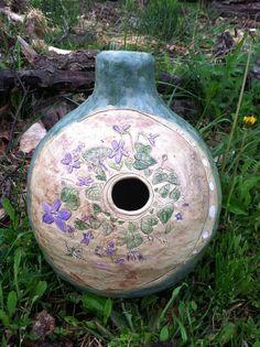 Violet Blossom and Moon Phase Udu Drum.