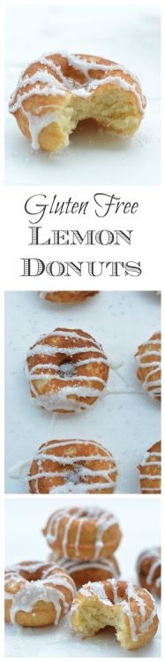 Gluten Free Lemon Donuts are a kid favorite in our house. How to make gluten free donuts. Gluten Free Donuts, Gluten Free Sweets, Gluten Free Cakes, Gluten Free Cooking, Dairy Free Recipes, Donut Recipes, Dessert Recipes, Gluten Free Breakfasts, Foods With Gluten