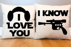 "Leia & Han ""I Love You/I Know"" Pillow Set"