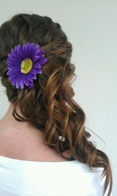 Updo side ponytail
