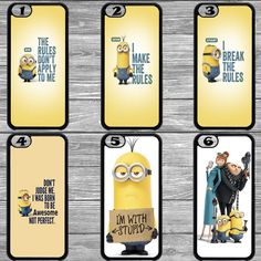 Minions Bob Kevin Stuart funny Cartoon caracters Apple cover for iPhone5 5s 6 6s in Mobile Phones & Communication, Mobile Phone & PDA Accessories, Cases & Covers | eBay