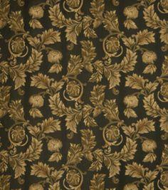 Home Decor Print Fabric-Eaton Square Ornate-Ebony Floral