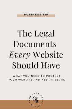 The Legal Documents Every Website Should Have — The Creative Law Shop® - Finance tips, saving money, budgeting planner